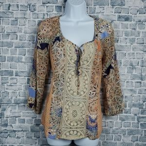 ♡6/$30♡ Anthropology Meadow Rue xsmall top # 1803